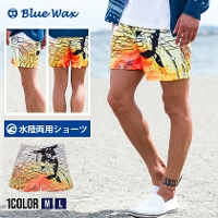 Blue Wax(ブルーワックス)Sunset whale Surf Shorts/全1色↑02
