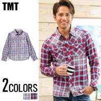 TMT(ティーエムティー)ORIGINAL INDIGO CHECK SHIRTS/全2色↑01