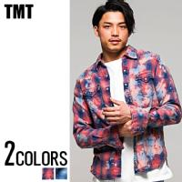 TMT(ティーエムティー)DESTROY PROCESSING INDIGO-CHECK SHIRTS/全2色