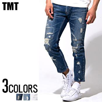 TMT(ティーエムティー)STRETCH RAINBOW-CRASH DENIM 5P CROPPED/全3色