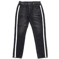 RAZZIS Side line denim pants / 2colors