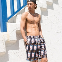 【6月14日12時〜販売開始】RAZZIS Beer swim short pants / 1color↑01